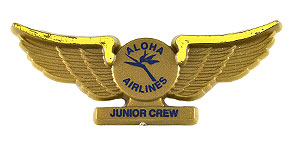 Aloha Airlines Junior Crew Wings