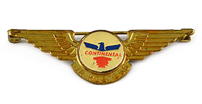 Continental Airlines Jr Hostess Wings
