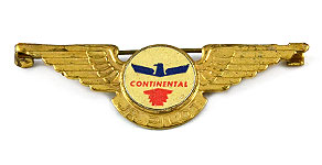 Continental Airlines Jr. Pilot Wings