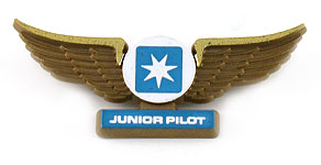 Maersk Air Junior Pilot Wings (upside-down logo)