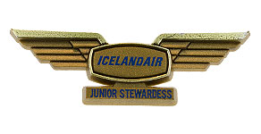Icelandair Junior Stewardess Wings