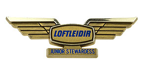 Icelandair Loftlei�ir Junior Stewardess Wings