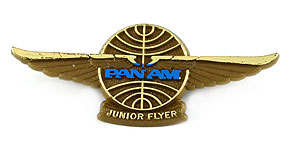 Pan American World Airways Junior Flyer Wings (dark blue)
