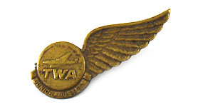 Trans World Airlines Junior Hostess Wings
