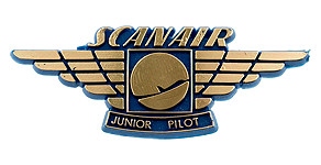 Scanair Junior Pilot Wings