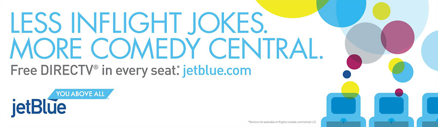 Less inflight jokes. More Comedy Central.