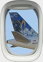 Frontier Airlines tail (photo by P. Alejandro Diaz)